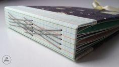 Álbum de 1 ano de namoro com costura romanesca. #tepires #album #romanesque #romanesca #bookbinding