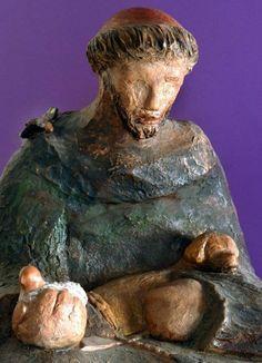 Susie Prunes - São Francisco I Escultura em Cerâmica