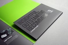 Corporate folder for a business events company. Corporate Brochure Design, Corporate Presentation, Presentation Folder, Corporate Events, Business Events, Corporate Identity, Luxury Business Cards, Business Card Design, Business Folder