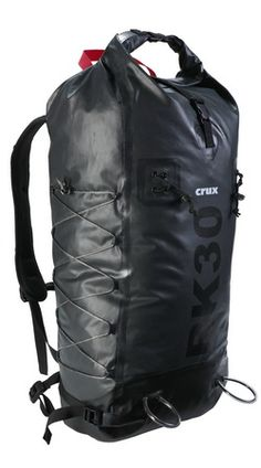 Crux RK30 waterproof, frameless backpack, Kevlar an Cordura, $225.
