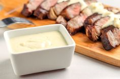 This thick and creamy blue cheese sauce recipe is perfect to serve with a hearty cut of steak. Choose a sturdy variety of cheese for the best result. Blue Cheese Steak Sauce, Chesse Sauce, Steak With Blue Cheese, Side Recipes, Veggie Recipes, Drink Recipes, Appetizer Recipes, Dinner Recipes, Appetizers