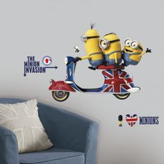 Bring the Minions Movie to life on your wall with our Minions Wall Decals!