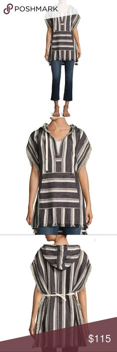 Theory Asmid Striped Cotton and Linen Poncho Brand new with tag, perfect condition!  Size M/L  So beautiful!  Additional product info in the picture section 👆🏻 Theory Tops Tunics