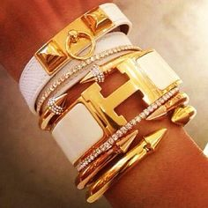 LOVE it #bracelets #hermes This is my dream hermes bracelet-hermes jewelry!!-fashion hermes jewelry. Click pics for best price ♥