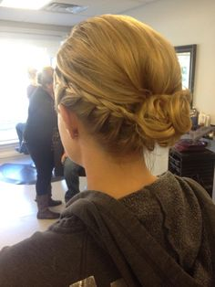 One sided French braid updo