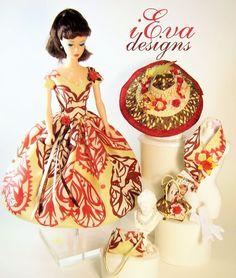 Heartshapes Silkstone Vintage Repro Barbie Doll Outfit Hat Clothes OOAK handmade #handmadevintagerepro