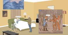 """Richard McGuire goes back and forth through time in """"Here,"""" a graphic novel set in the corner of a living room."""