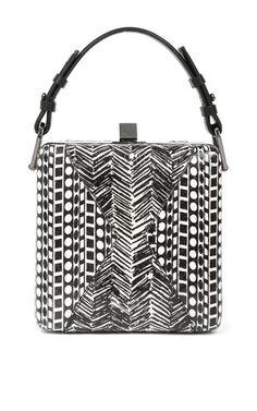 Jill Haber Charles Geometric Elaphe Classic Box Bag by JILL HABER for Preorder on Moda Operandi