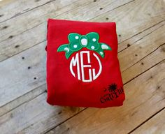 Bow Monogram, Buddy, personalized, embroidered,
