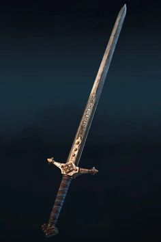 The Valuan gear set is one of the four rare weapon gear sets for the Warden class for the Knights faction in For Honor. Fantasy Blade, Fantasy Sword, Fantasy Weapons, Fantasy Rpg, Medieval Fantasy, Swords And Daggers, Knives And Swords, Cool Swords, Sword Design
