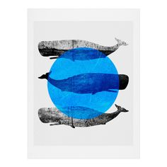 Elisabeth Fredriksson Whales Art Print | DENY Designs Home Accessories #denydesigns #art #print #home #decor #wales #graphic #minimalistic #modern #animals