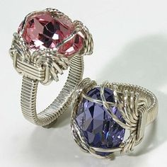 Wire wrapped rings, beautiful design