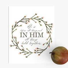 HE IS BEFORE ALL THINGS   Encouragement Art (PREORDER)