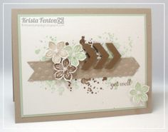 Beautiful card by Krista Fenton ... easy splatters using Gorgeous Grunge