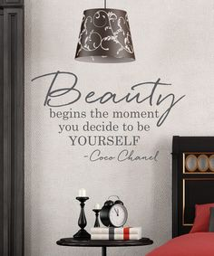 Look at this Wallquotes.com by Belvedere Designs 'Beauty Begins' Vinyl Decal on #zulily today!