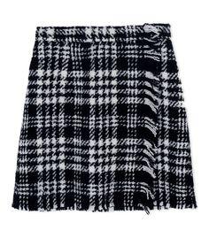 Dolce & Gabbana Plaid Tweed Mini Skirt