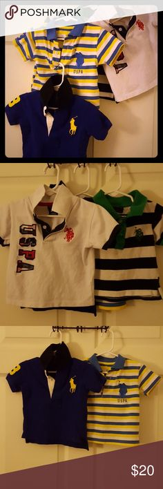 BUNDLE** POLO BY RALPH LAUREN 12 MONTH BOY BUNDLE 4 polo shirts  Used a few times for pictures  I may be able to separate They are so sharp 😍 Polo by Ralph Lauren Shirts & Tops Polos