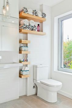 Storage for a tiny bathroom