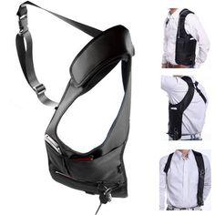 Men Security Holster Strap Messenger Bags Underarm Shoulder Armpit Bag Phone Pouch Burglarproof Anti Theft Waist Tactical Bag