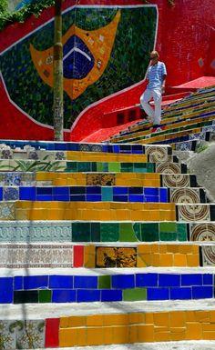Selarón steps in Rio de Janeiro, Brazil | Flickr - Photo by servuloh