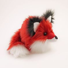 Poppy Red Fox Stuffed Animal Cute Fox Plush Toy Kawaii Plushie Holiday Gift Fluffy Faux Fur Toy Large Red Fox Softie 6x10 Inches by Fuzziggles on Etsy