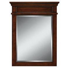 allen + roth Hartley 34-in H x 26-in W Mink Rectangular Bathroom Mirror