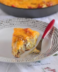 Cheddar Potato Bacon Frittata