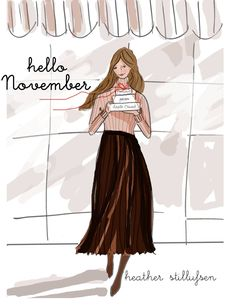 The Heather Stillufsen Collection from Rose Hill Designs November Month, Hello November, New Month, Happy November, Rose Hill Designs, Chillout Zone, Hello Weekend, Months In A Year, Girly