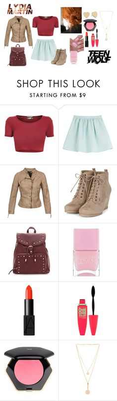 """Lydia Martin Style"" by rahahaj ❤ liked on Polyvore featuring Tara Jarmon, Nails Inc., NARS Cosmetics, Maybelline, H&M, Chloé, Kate Spade, TeenWolf and LydiaMartin"