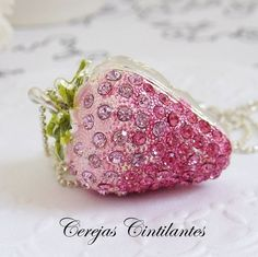 lovely, necklace, pink, strawberry, sweet - inspiring picture on Favim.com