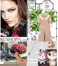 """ashion collocation---rushopn.com"" by sara-mackay ❤ liked on Polyvore"