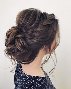 wedding updos for medium length hair,wedding updos,updo hairstyles,prom hairstyles hair updos Bridal Hairstyles With Braids, Braided Hairstyles For Wedding, Bride Hairstyles, Gorgeous Hairstyles, Hairstyles 2018, Updos With Braids, Wedding Updo With Braid, Prom Hairstyles For Medium Hair, Hairstyle Wedding