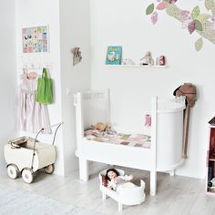 little girl's bedroom decor + furniture, whites + pastels