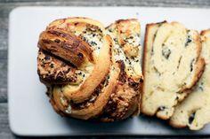 Savory Garlic & Mustard Babka Bread with Gruyère Cheese, Mozzarella, and Black Sesame recipe on Savoury Baking, Bread Baking, Babka Bread, Sesame Recipes, Cooking Trout, Babka Recipe, Yeast Bread Recipes, Easy Appetizer Recipes, Yummy Recipes