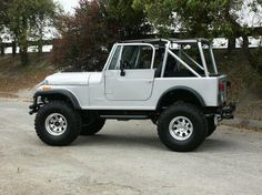Old Jeep CJ7's.  Had one.  It was black.  Loved it.  Hope to have another one again someday.  Good times.