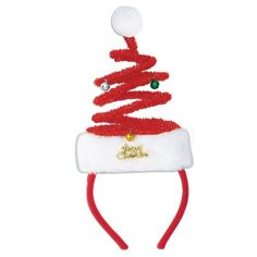 e4c85b4c598 Bring on the spirit of Christmas with a Springy Christmas Tree Headband.  Just slip on this comfortable novelty holiday hairband and with a simple  shake of ...