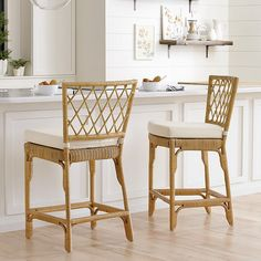 You'll love this Suzanne Kasler Southport Rattan Counter Stool! Shop online for Ballard's Suzanne Kasler Southport Rattan Counter Stool & refresh your living & dining decor style. Wicker Counter Stools, Rattan Bar Stools, Kitchen Stools, Dining Decor, Dining Room Chairs, Dining Tables, Cushions To Make, Bar Furniture, Classic Furniture
