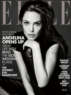 Ms Jolie was photographed by Saint Laurent creative director Hedi Slimane, for ELLE's June issue - hitting newsstands on May 13