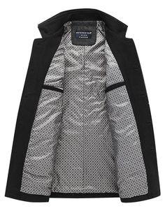 Match Men s Wool Blend Car Coat(8863 Light gray 653e2924ab