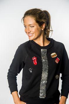 5aedcfe1a244 14 Best Pimp your sweater! images | Pailletten, Surfen, Truien