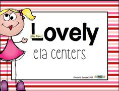Lovely ELA Centers from Love Of Teaching on TeachersNotebook.com -  (68 pages)  - This pack has ELA centers for Kindergarten.