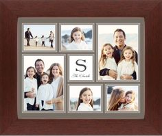 Classic Monogram Framed Print, Brown, Contemporary, None, None, Single piece, 8 x 10 inches, Brown
