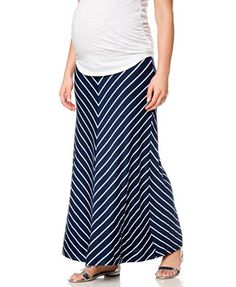 8abe62e5cef4a Motherhood Maternity Foldover-Waist Chevron-Stripe Maxi Skirt Maternity  Maxi Skirts