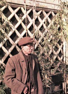 山本悍右 北園克衛像 1959 Portrait of  Katue Kitasono . Kansuke Yamamoto, ©Toshio Yamamoto.