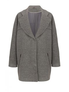 NAF NAF - Manteau chiné poches en zip GRIS CHINE - Manteaux