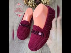 Crochet Bag Tutorials, Crochet Slippers, Baby Shoes, Gucci, Clothes, Youtube, Fashion, Tricot, Shoes