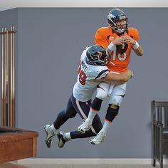 J.J. Watt Takes It On REAL.BIG. Fathead Wall Graphic | Houston Texans Wall Decal | Sports Décor | Football Bedroom/Man Cave/Nursery