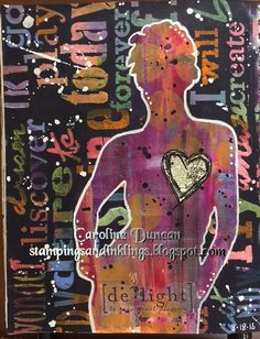 art journal by Caroline Duncan ~ Stampings and Inklings ~ Dylusions Paints…