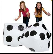 2X Inflatable Blow Up Cube Dice Casino Poker Party Halloween Beach Play Game Toy