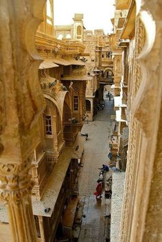 "Golden City by Prugs Jaisalmer About this sound pronunciation (help·info) (Rajasthani: जैसलमेर), nicknamed ""The Golden city"", is a town in the Indian state of Rajasthan. It is located 575 kilometres. Places Around The World, Oh The Places You'll Go, Places To Travel, Places To Visit, Around The Worlds, Jaisalmer, Varanasi, Beautiful World, Beautiful Places"